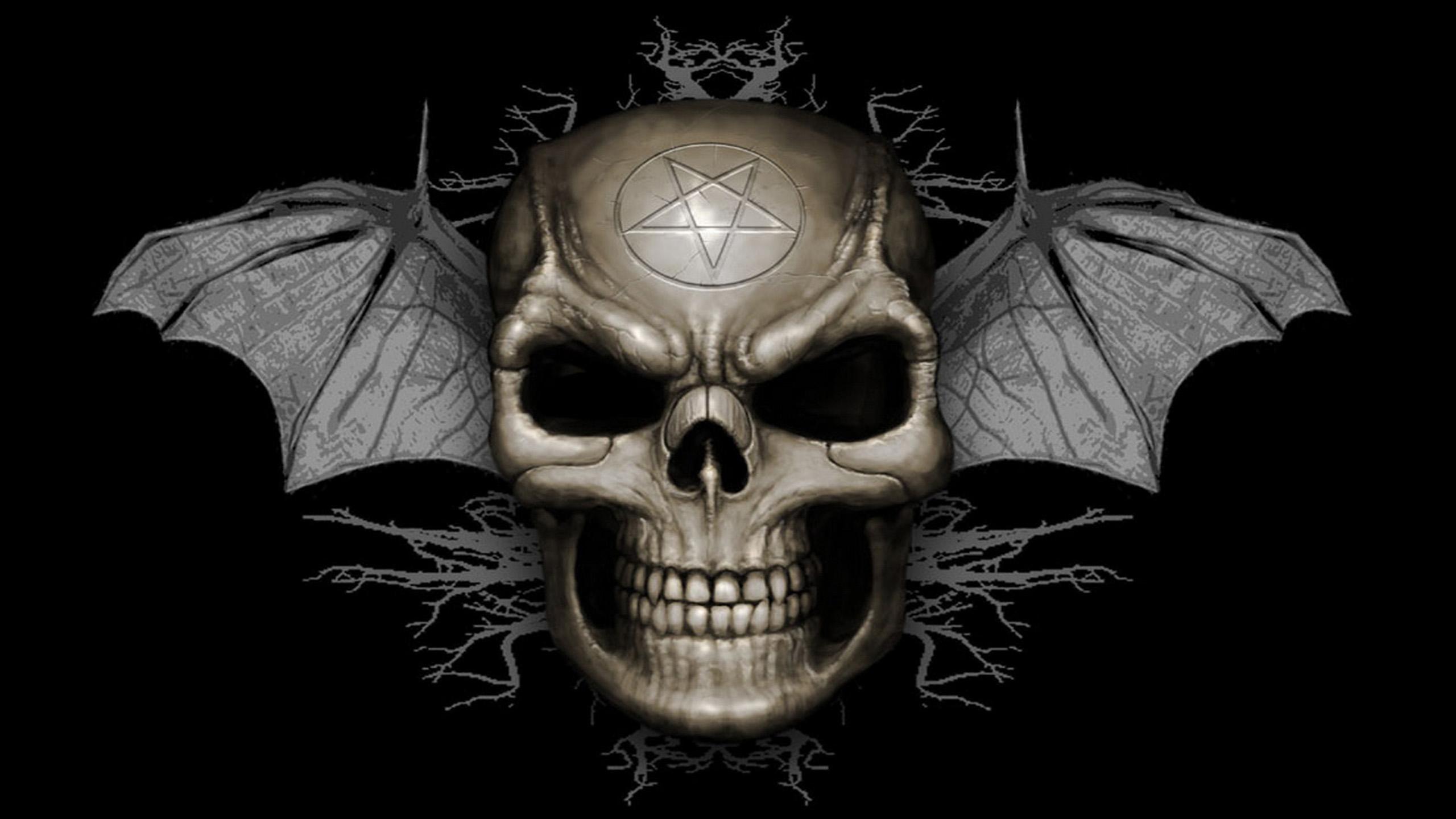 Evil skull bat wallpapers HD Desktop Wallpapers 2560x1440