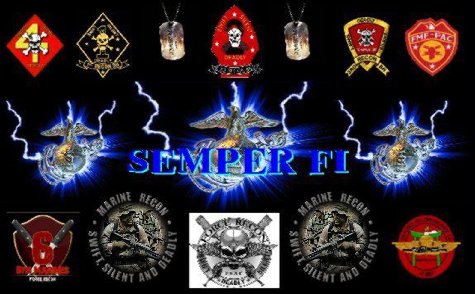 Marine Corps Recon Patches I Served With wallpaper   ForWallpaper 1532x949