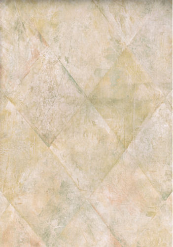 Harlequin Diamond Faux Marble Tile Look Wallpaper in Browns Greens 351x500
