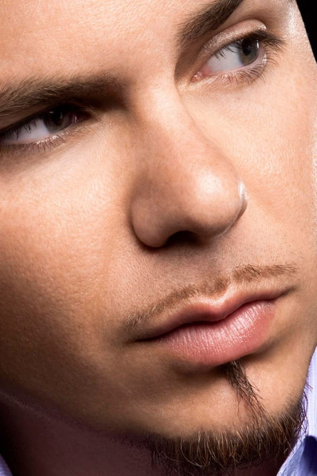 Download Wallpaper 640x960 Pitbull Suit Beard Face Look iPhone 4S 640x960