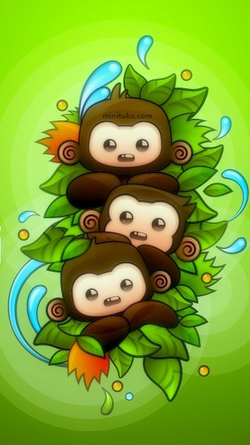 monkey cartoon wallpaper - photo #31