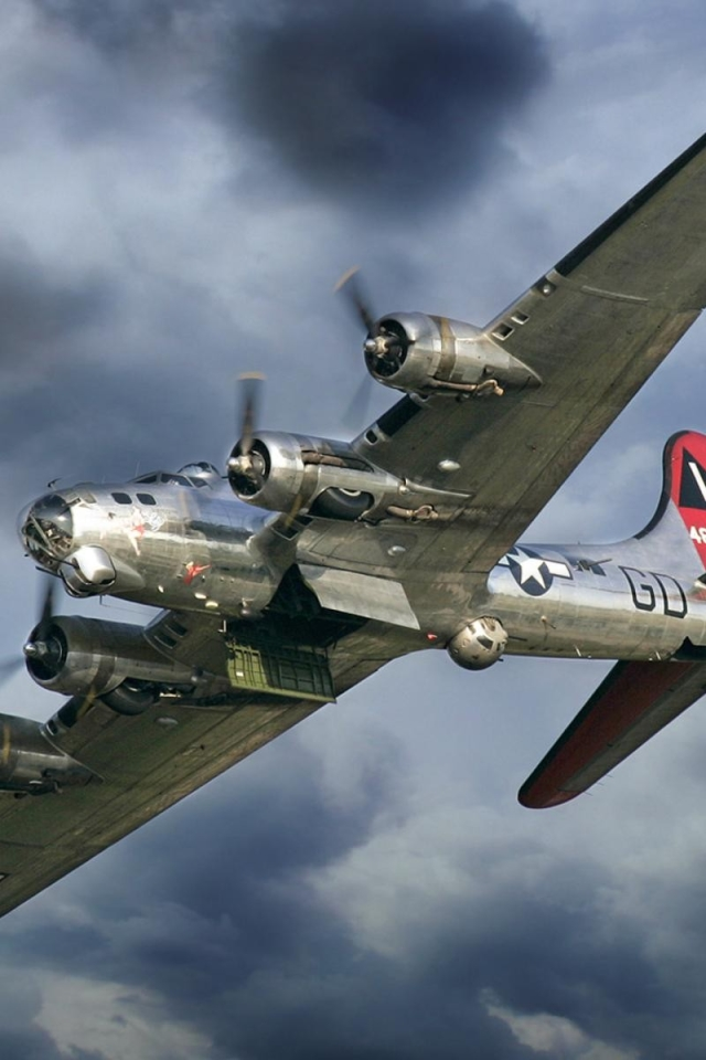 MilitaryBoeing B 17 Flying Fortress 640x960 Wallpaper ID 640x960