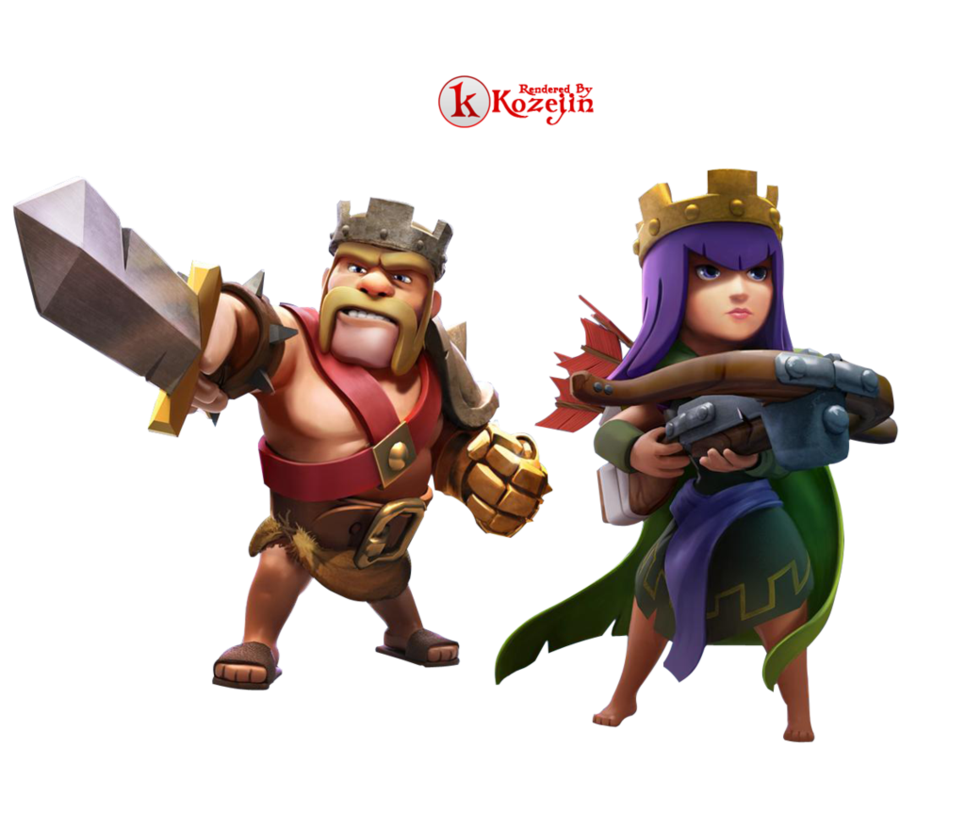 Clash of Clans King and Queen Render by kozejin 965x828