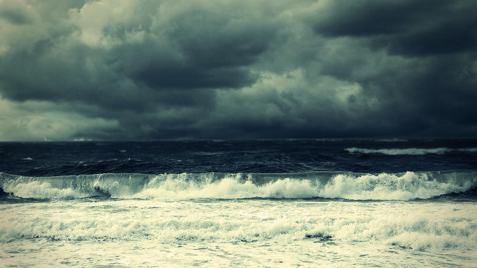 Stormy Ocean Wallpaper 1920x1080 Stormy Ocean 1920x1080