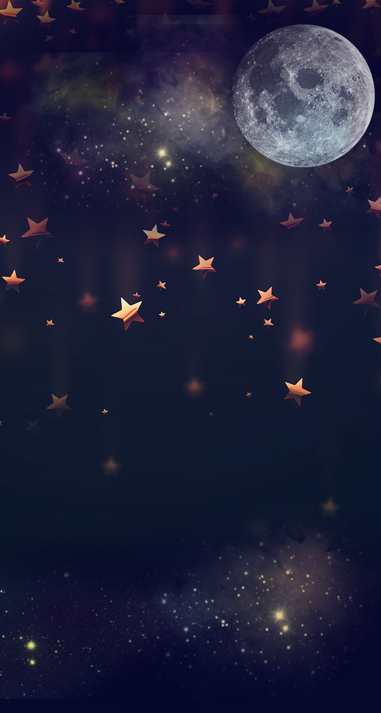 Moon Falling Stars Good Backgrounds in 2019 Iphone wallpaper 744x1392