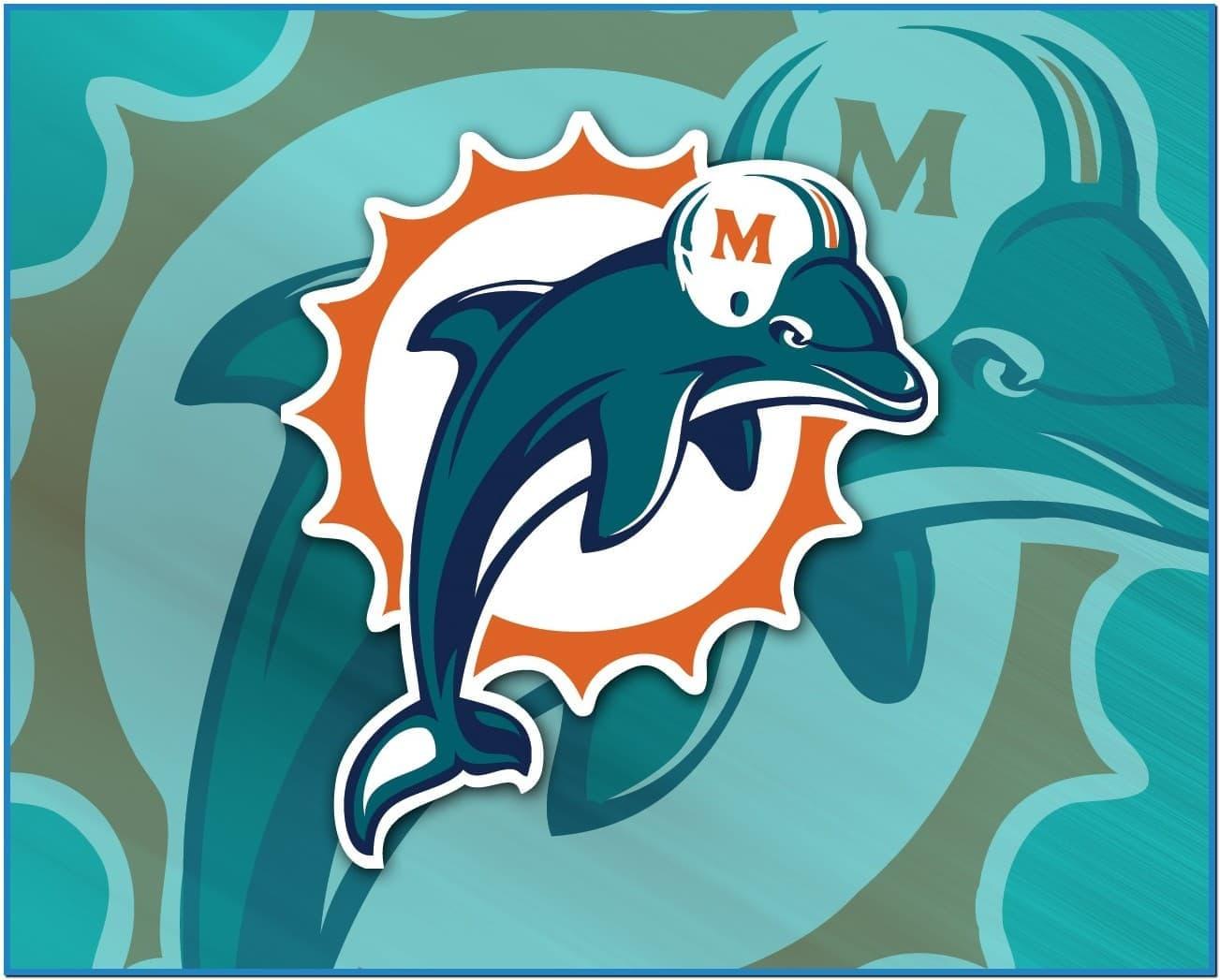 Miami dolphins screensaver wallpaper Download 1303x1047