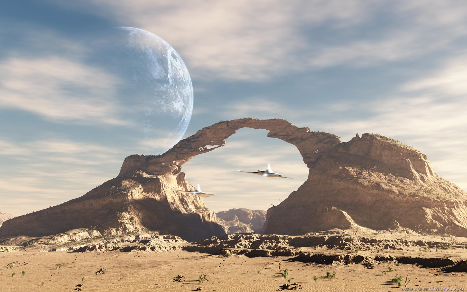 Alien Landscape Wallpaper - WallpaperSafari