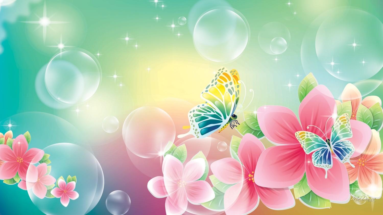 Flowers and butterflies wallpaper   SF Wallpaper 1500x843