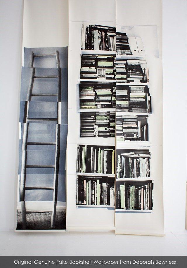 Genuine Fake Original Bookshelf Wallpaper From Deborah 640x920