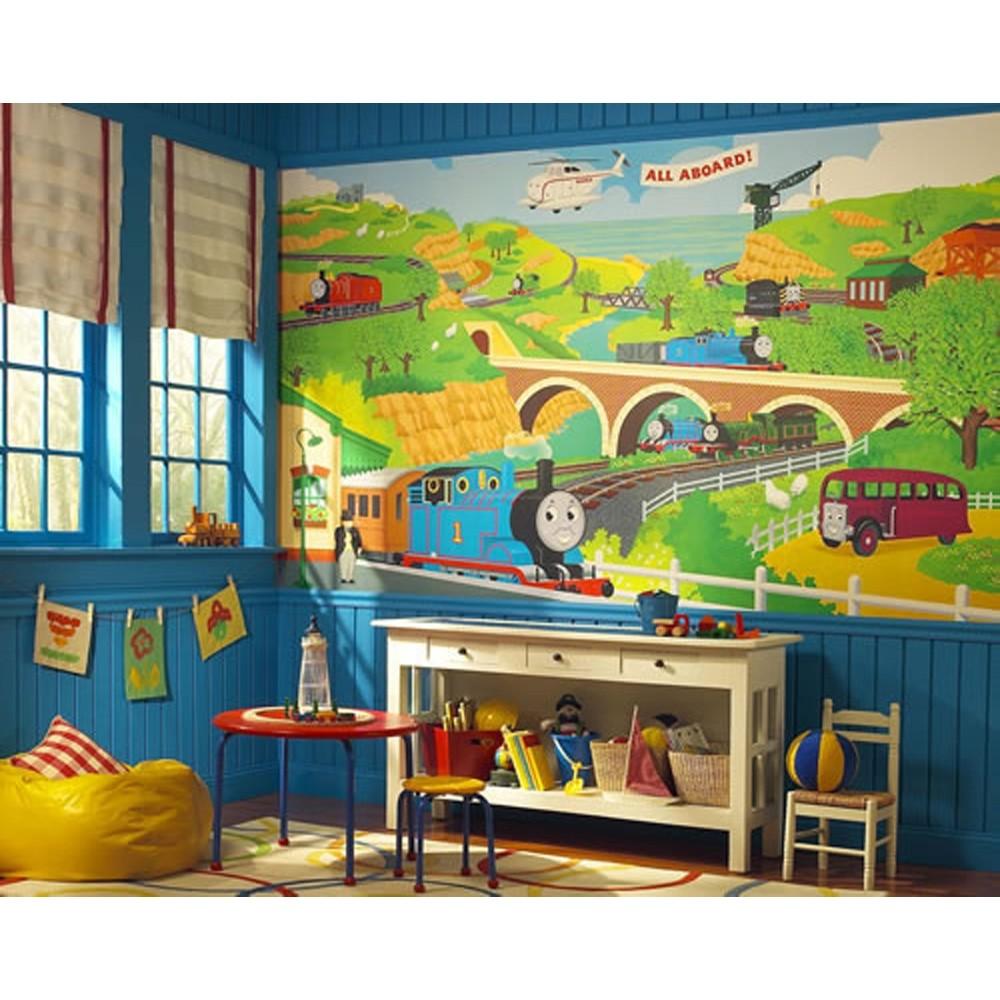 Tank Engine Wall Mural Train Room Wallpaper Trains Decorations eBay 1000x1000