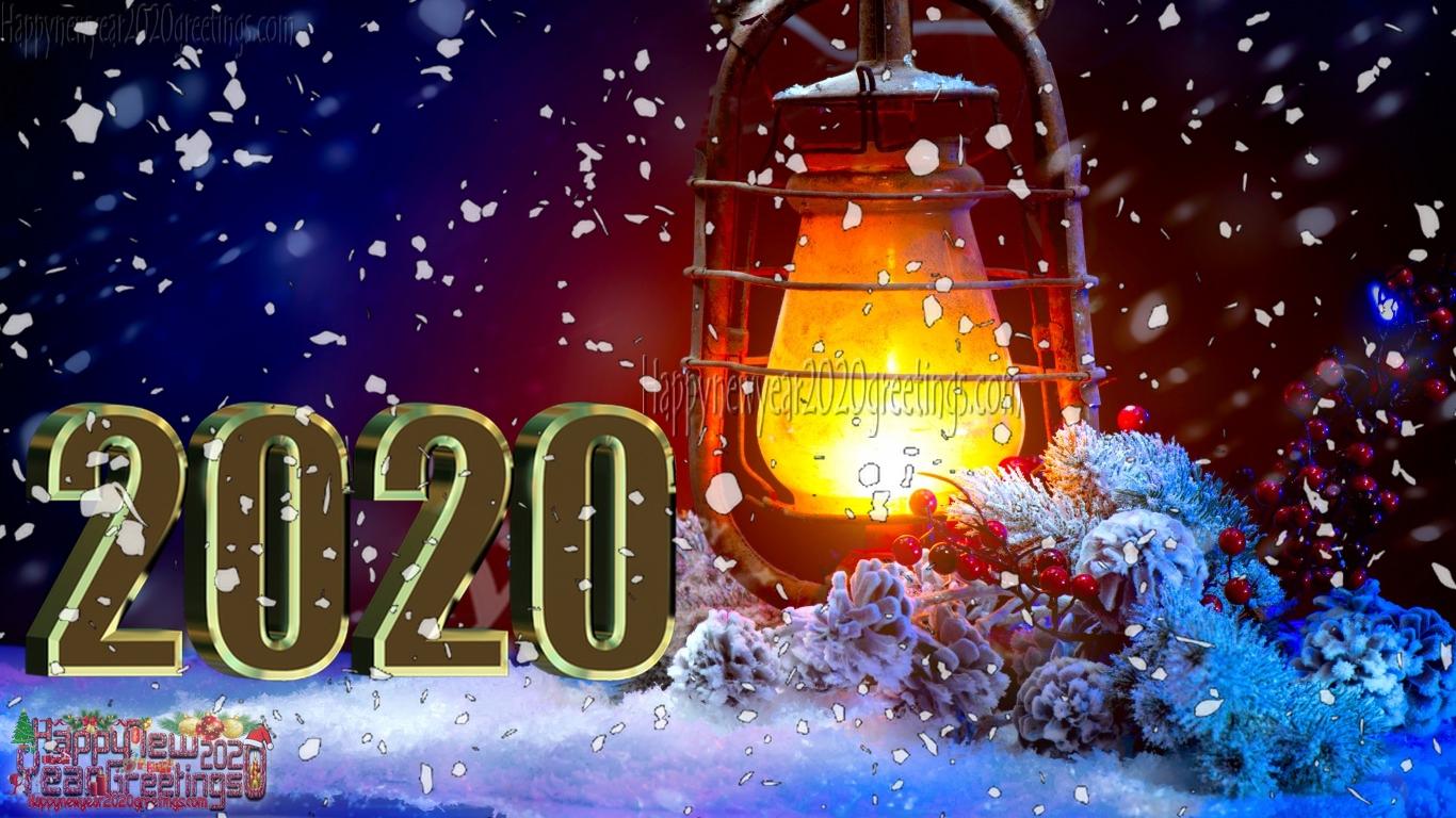Happy New Year 2020 3D Desktop Background Wallpapers Download 1366x768