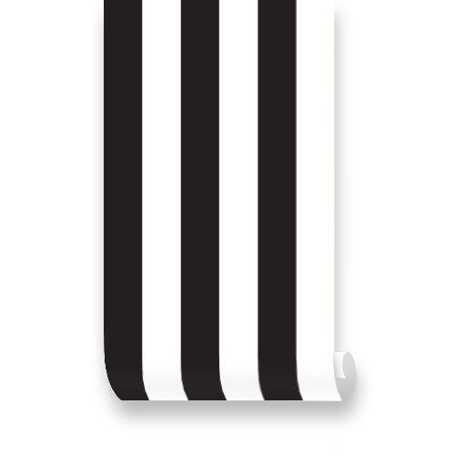 Stripes Black Removable Wallpaper   Peel Stick Repositionable 500x500