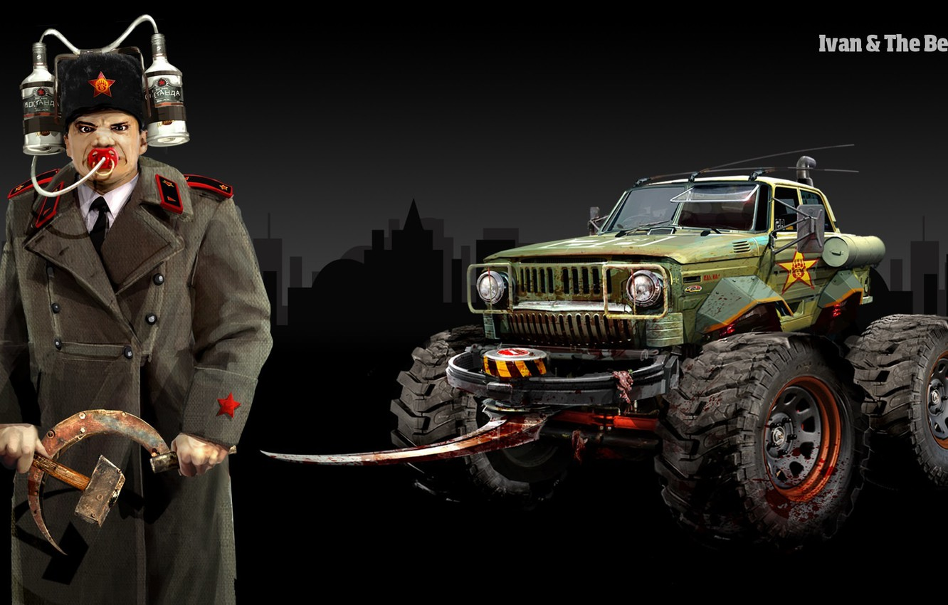 Wallpaper The game Carmageddon Reincarnation The Game Ivan The 1332x850