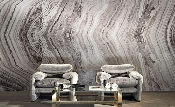 Zinc Textiles Wallpaper Pattern Living Room Marble Slab 600x367