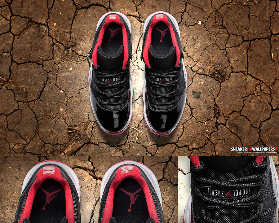 Air Jordan 11 Retro Low True Red Breds wallpaper 900x720