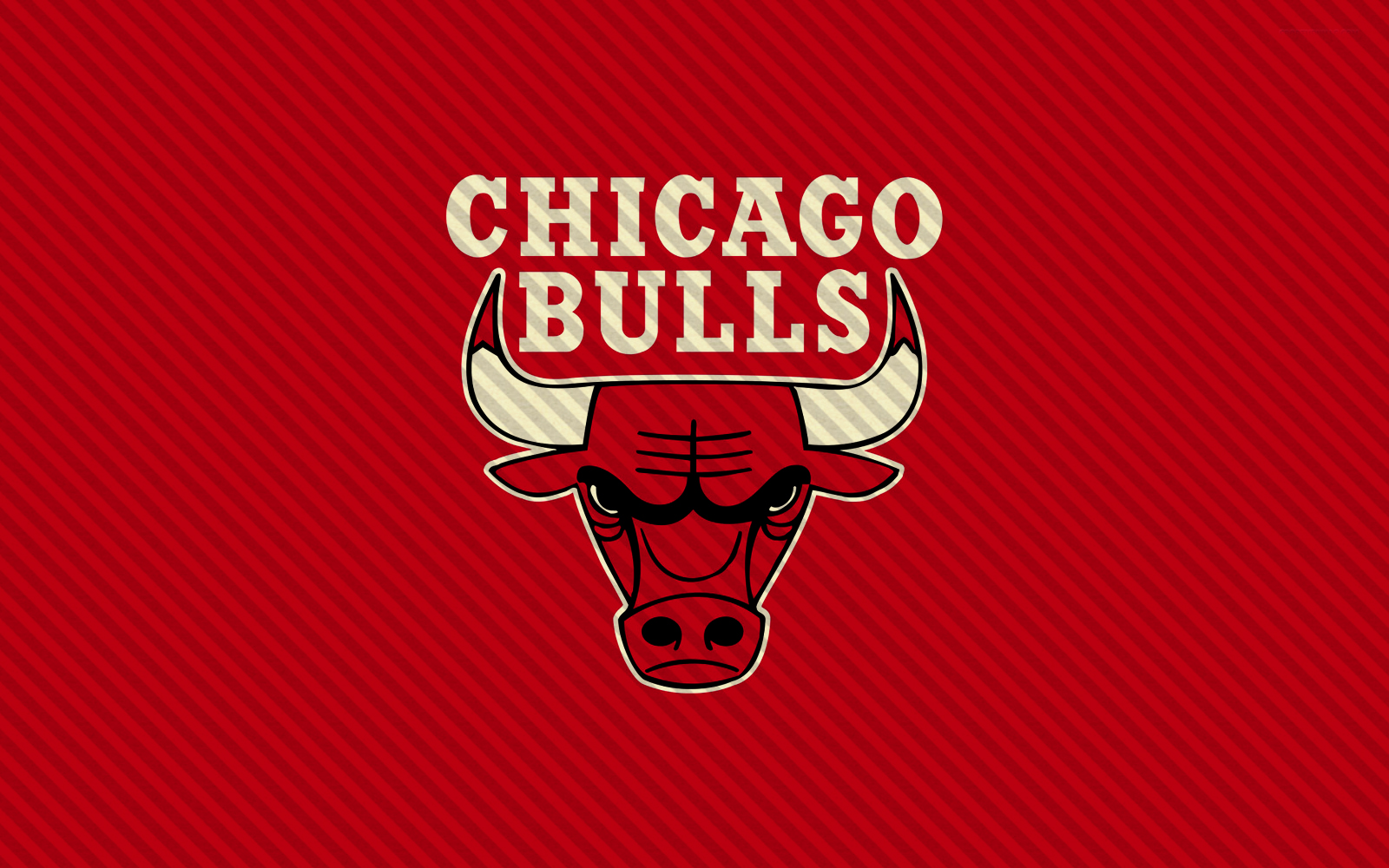 Chicago Bulls Logo Red Background Lines HD Wallpaper 1600x1000