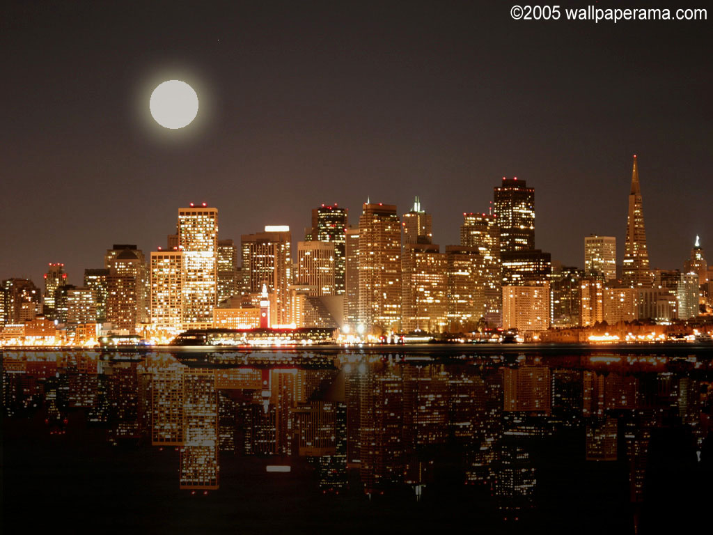 City Lights at Night Wallpaper - WallpaperSafari