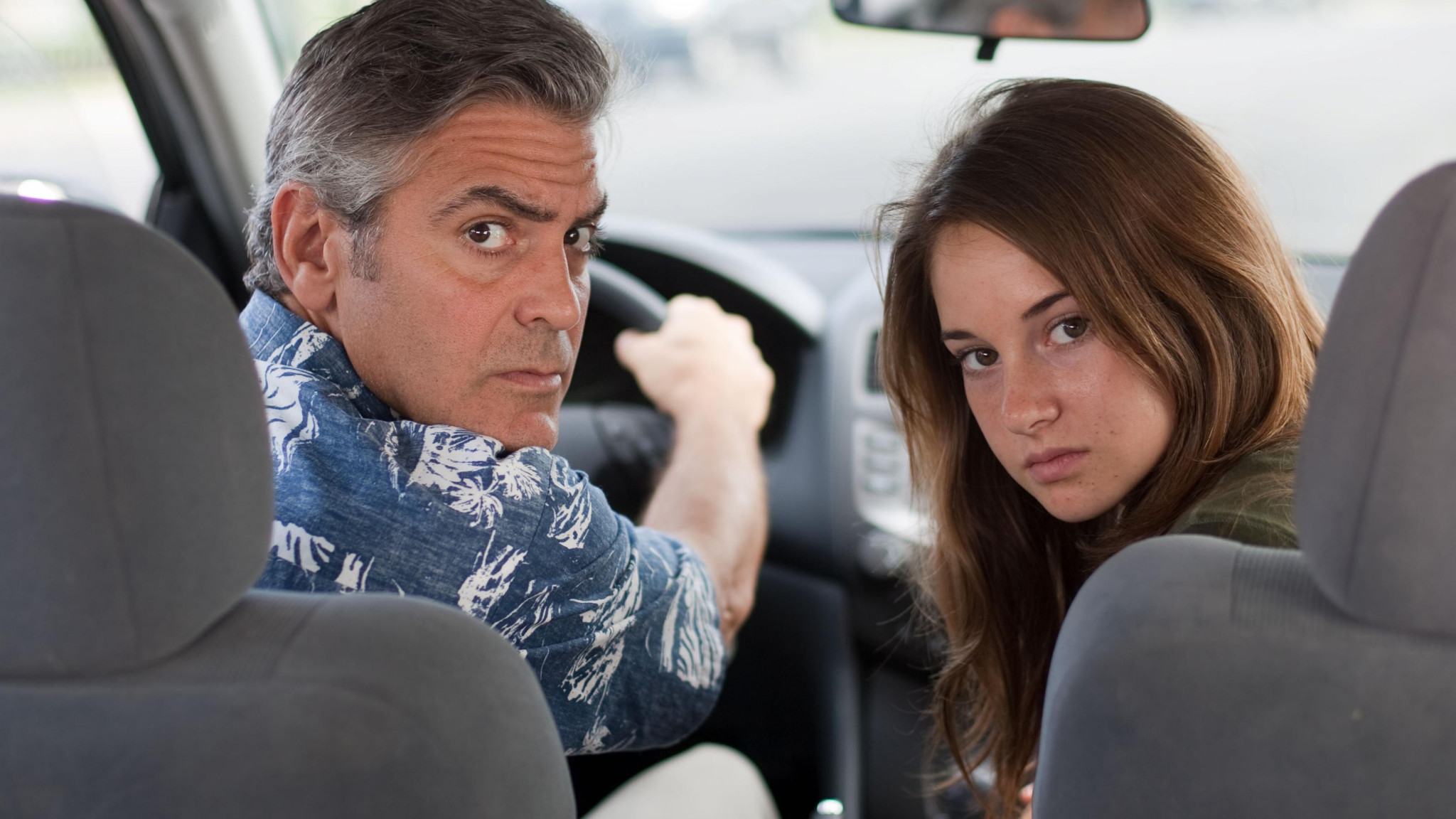 wallpaper the descendants george clooney shayleen woodley HD 2048x1152