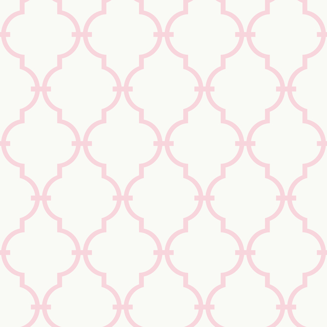 Pink and White Modern Trellis Wallpaper   RosenberryRoomscom 650x650