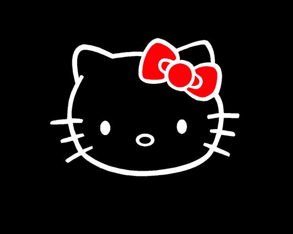 76 Hello Kitty Black Background On Wallpapersafari
