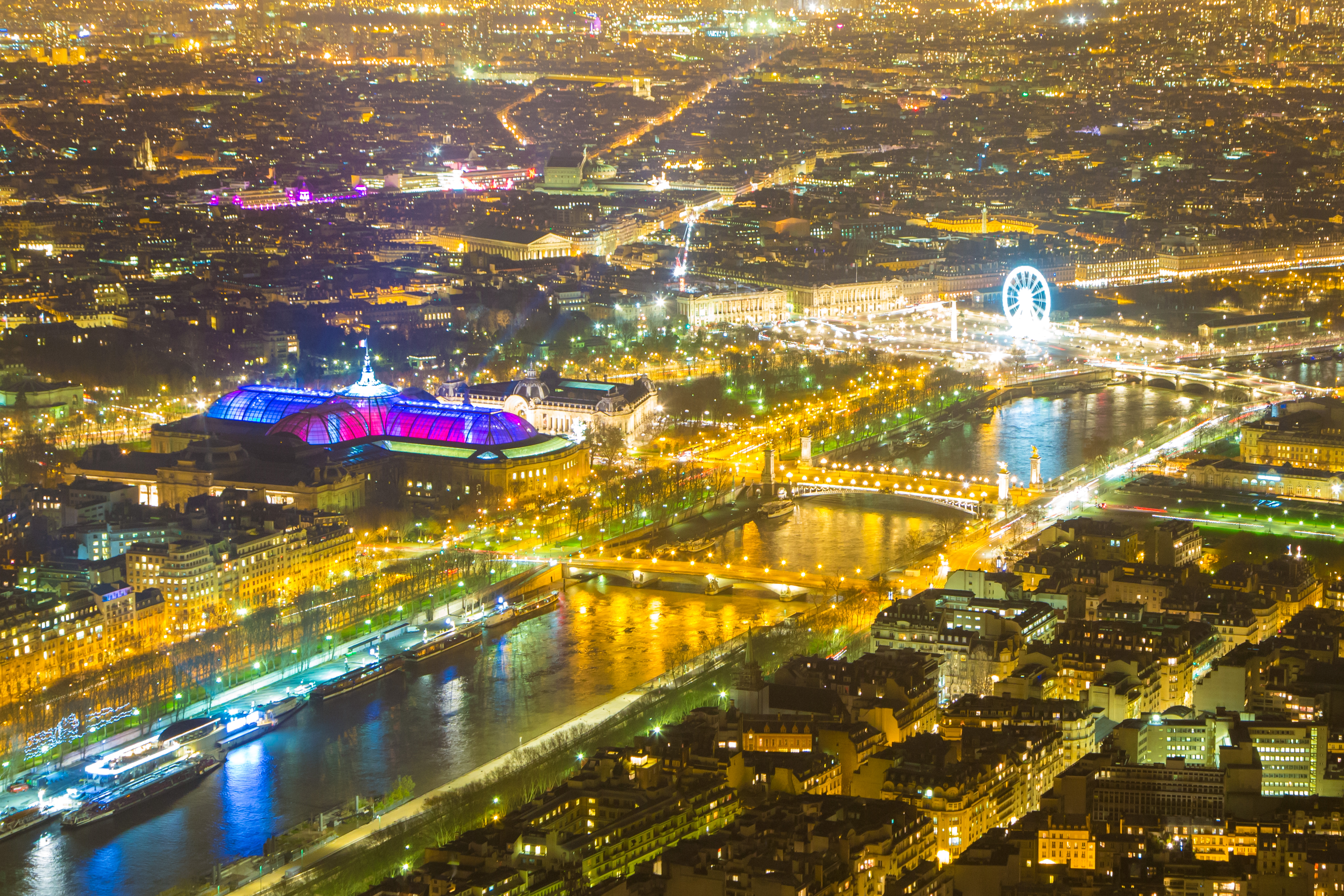 4K 5K wallpaper Paris night viewTest for new Retina iMac 6400x4267