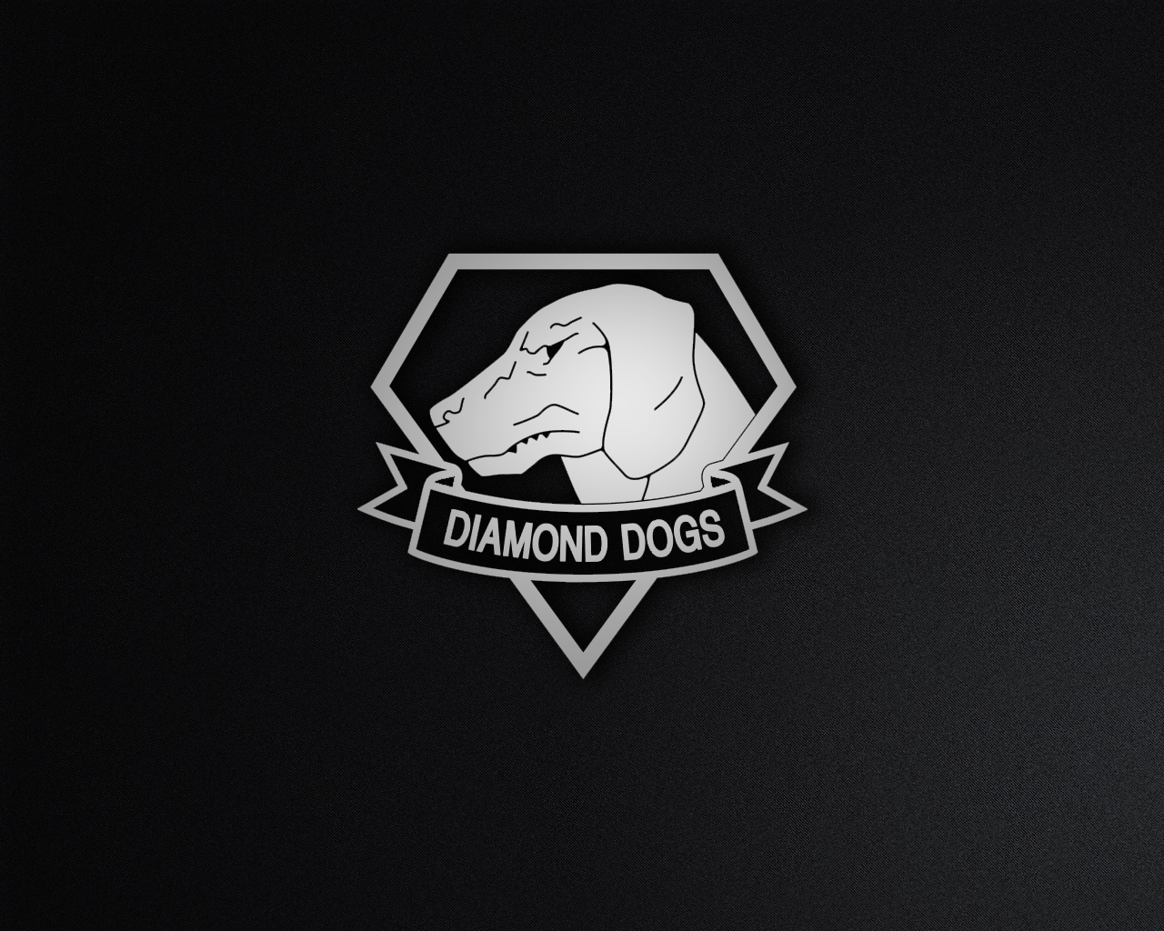 Diamond Dogs Black and White by Chemyakin 1280x1024