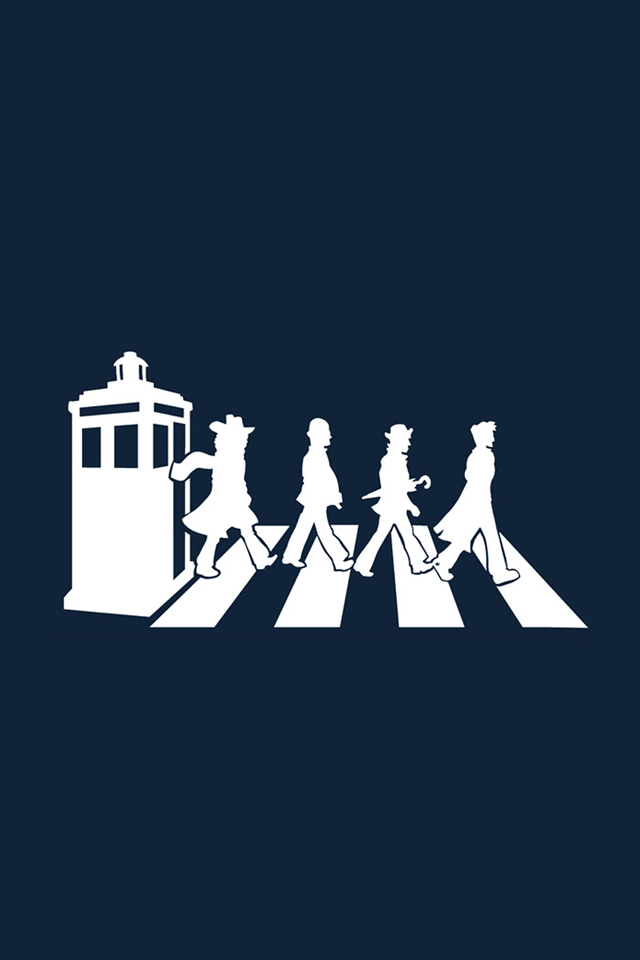 Tardis the Beatles iPhone Wallpapers HD iPhone 640x960