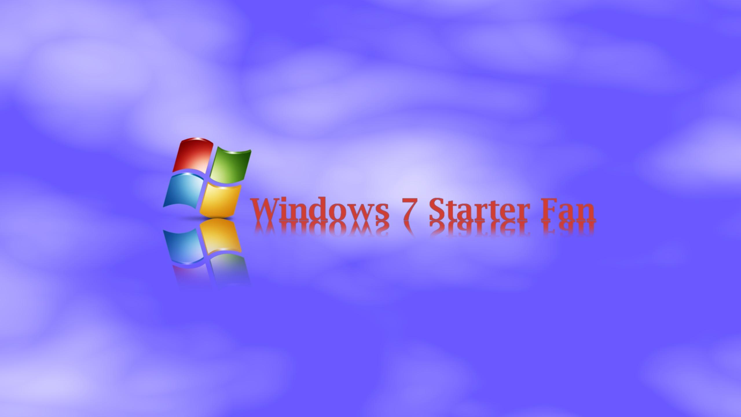 Windows 7 Starter Fan desktop wallpaper by Windows7StarterFan on 2560x1440