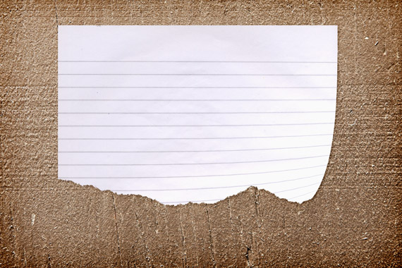 Realistic Torn Paper Note On A Wood Background Design Panoply 570x380