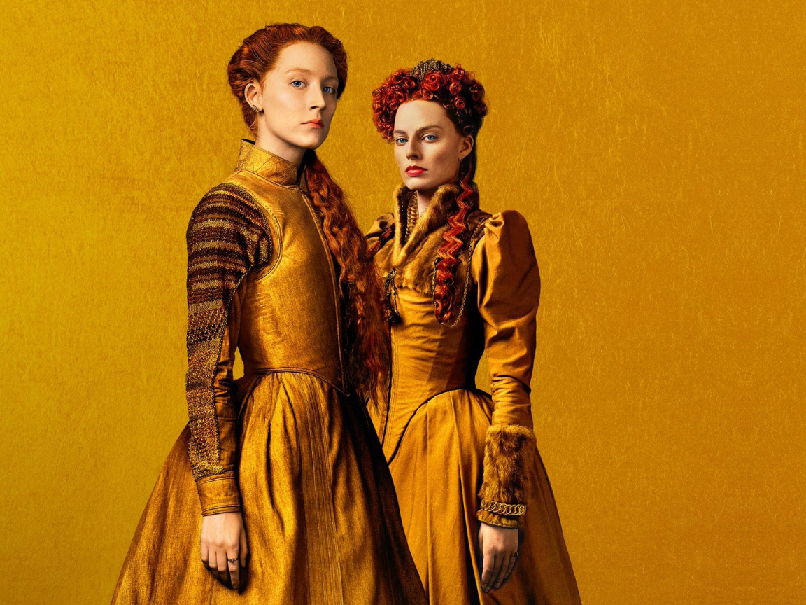 1152x864 Margot Robbie and Saoirse Ronan in Mary Queen of Scots 1152x864