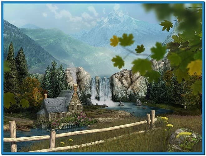 Mountain waterfall 3d screensaver and animated wallpaper   Download 661x500