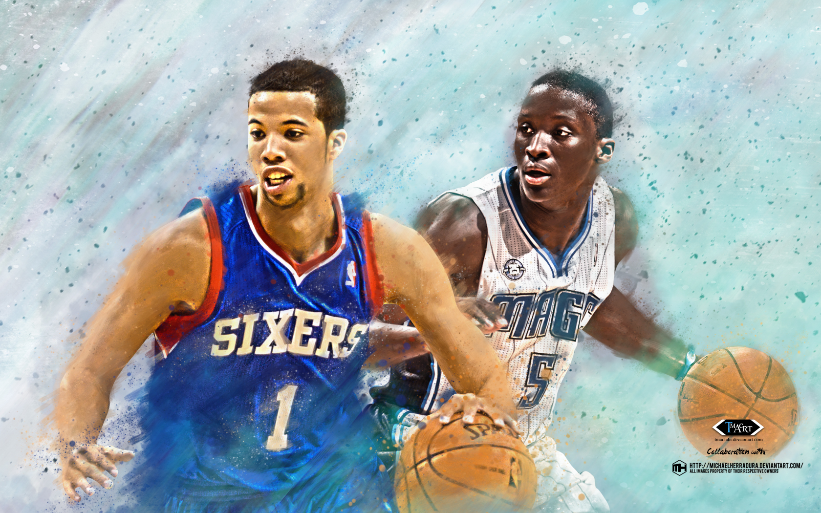Michael Carter Williams and Oladipo Wallpaper by tmaclabi 1680x1050