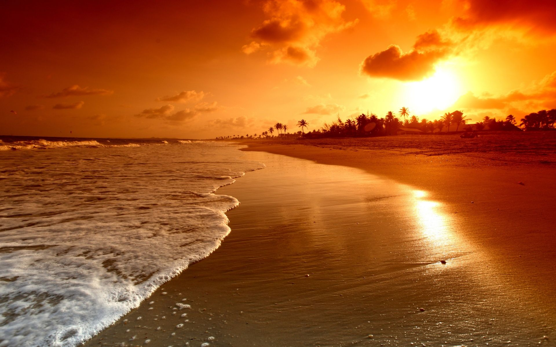 40 Romantic Beach Sunset Desktop Wallpapers   Download at 1920x1200