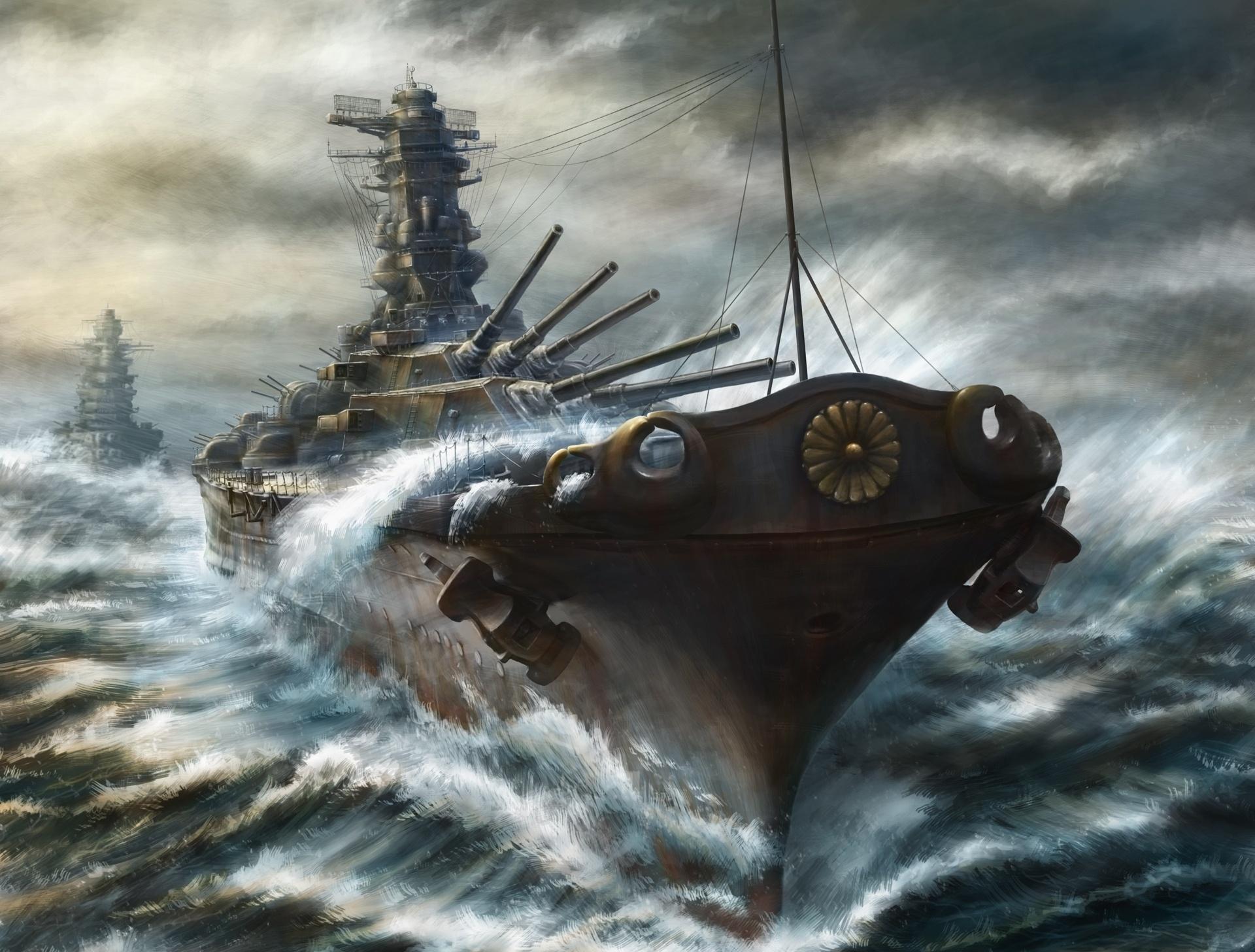 takahisa ships cruiser battleship art military wallpaper background 1920x1456