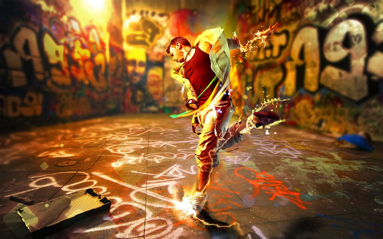 3D Street Art Wallpaper