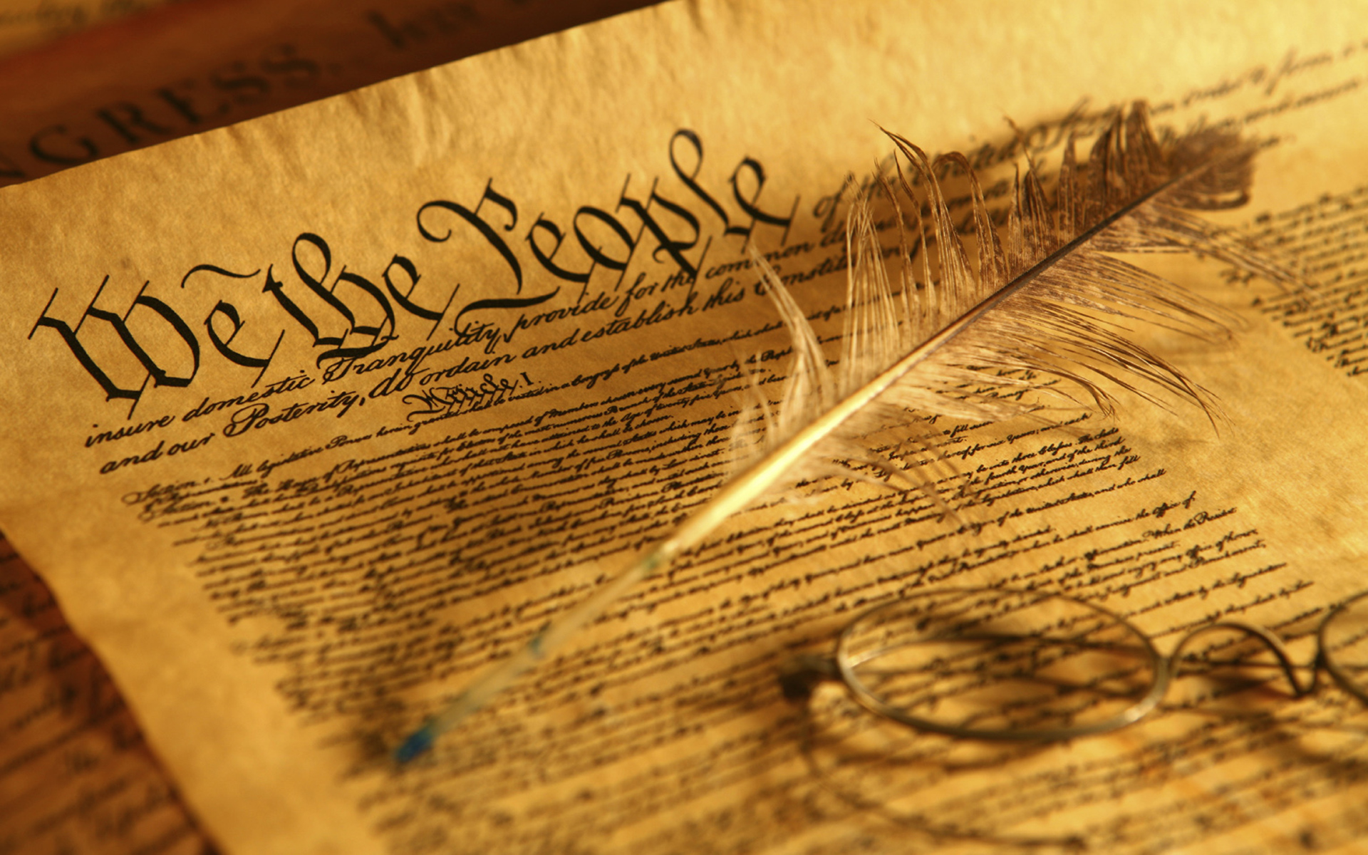 US Constitution Day computer desktop wallpapers pictures 1920x1200