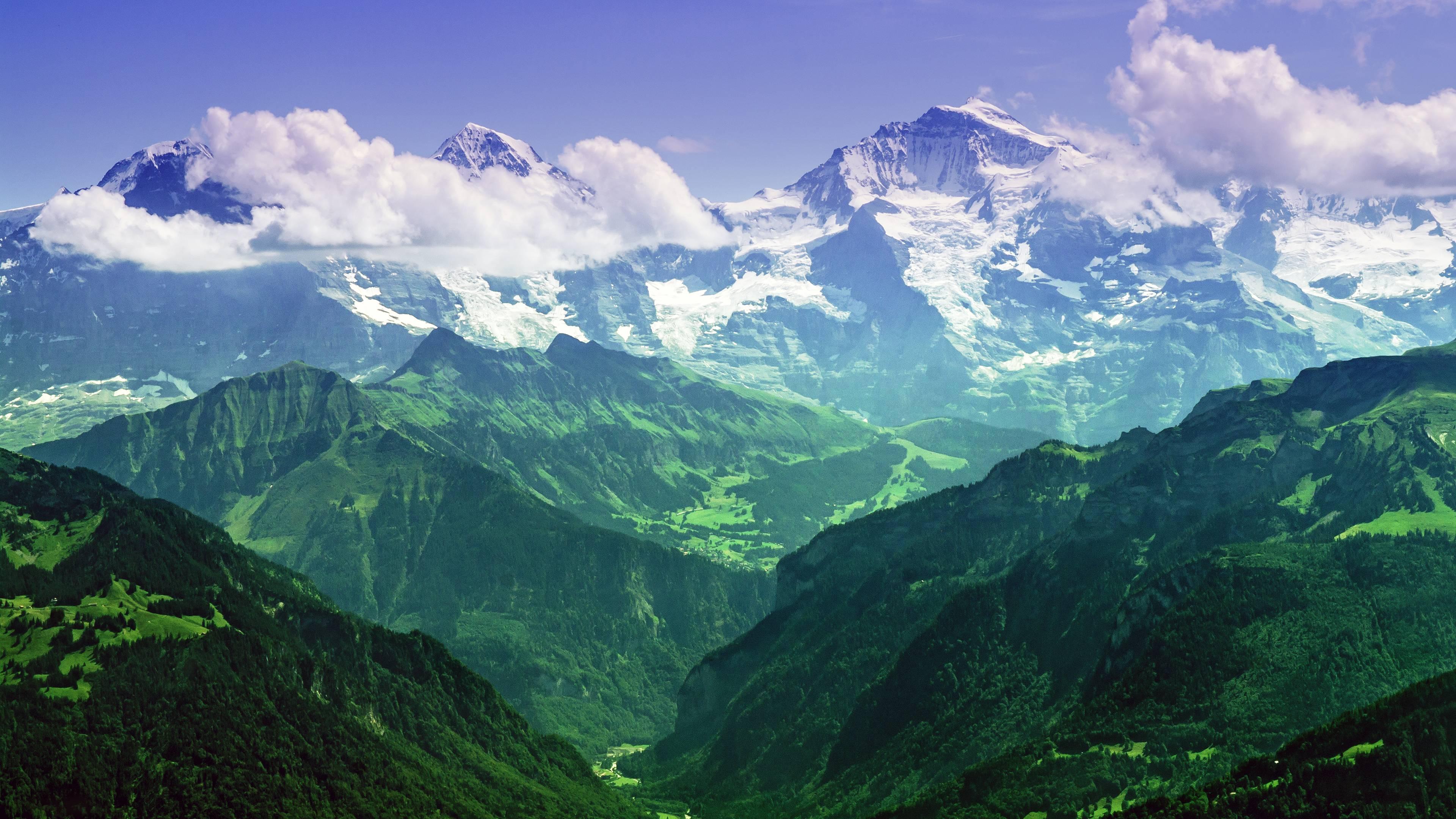 The Mighty Jungfrau Bernese Alps Switzerland [3840x2160 3840x2160