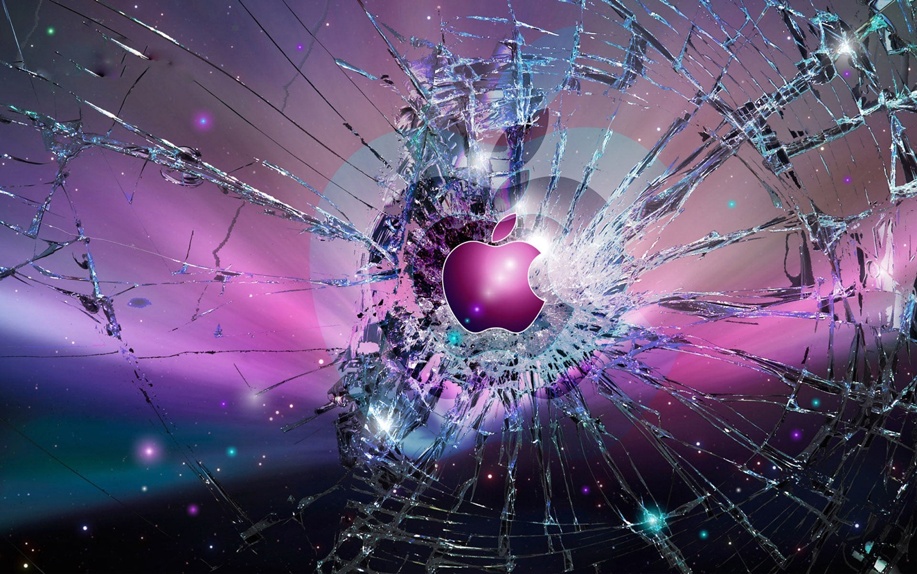 cool apple wallpapers shattered glass - wallpapersafari