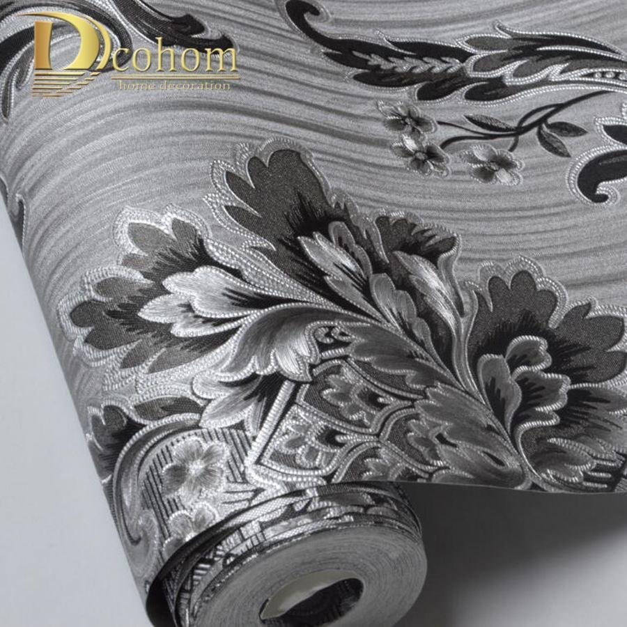 Good Quality Modern 3D Damask Wallpaper For Walls Vinyl PVC 900x900