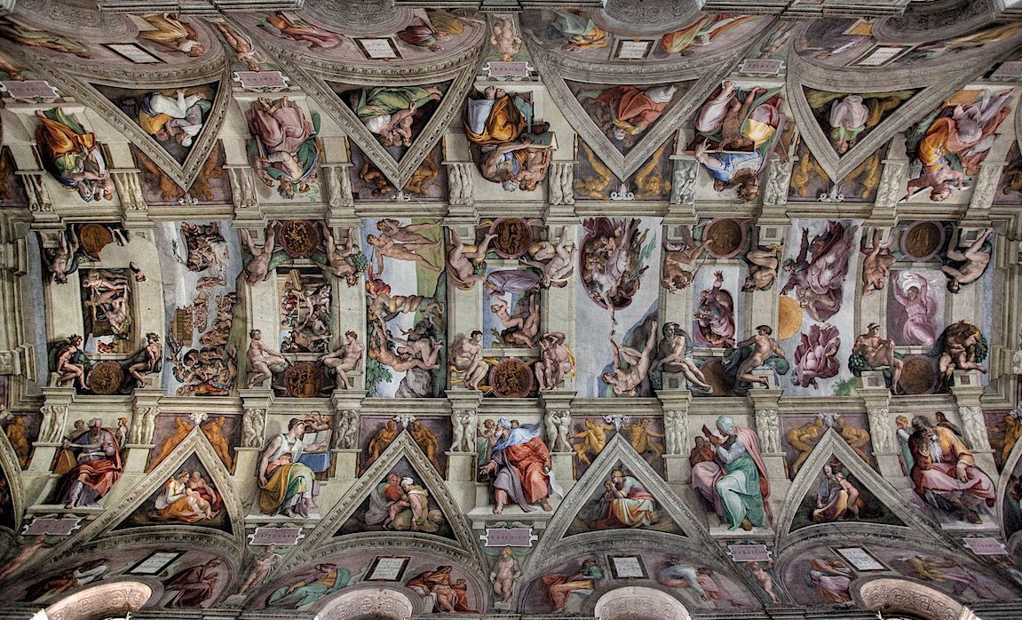 Sistine Chapel Ceiling HD Wallpaper Background Images 1151x698