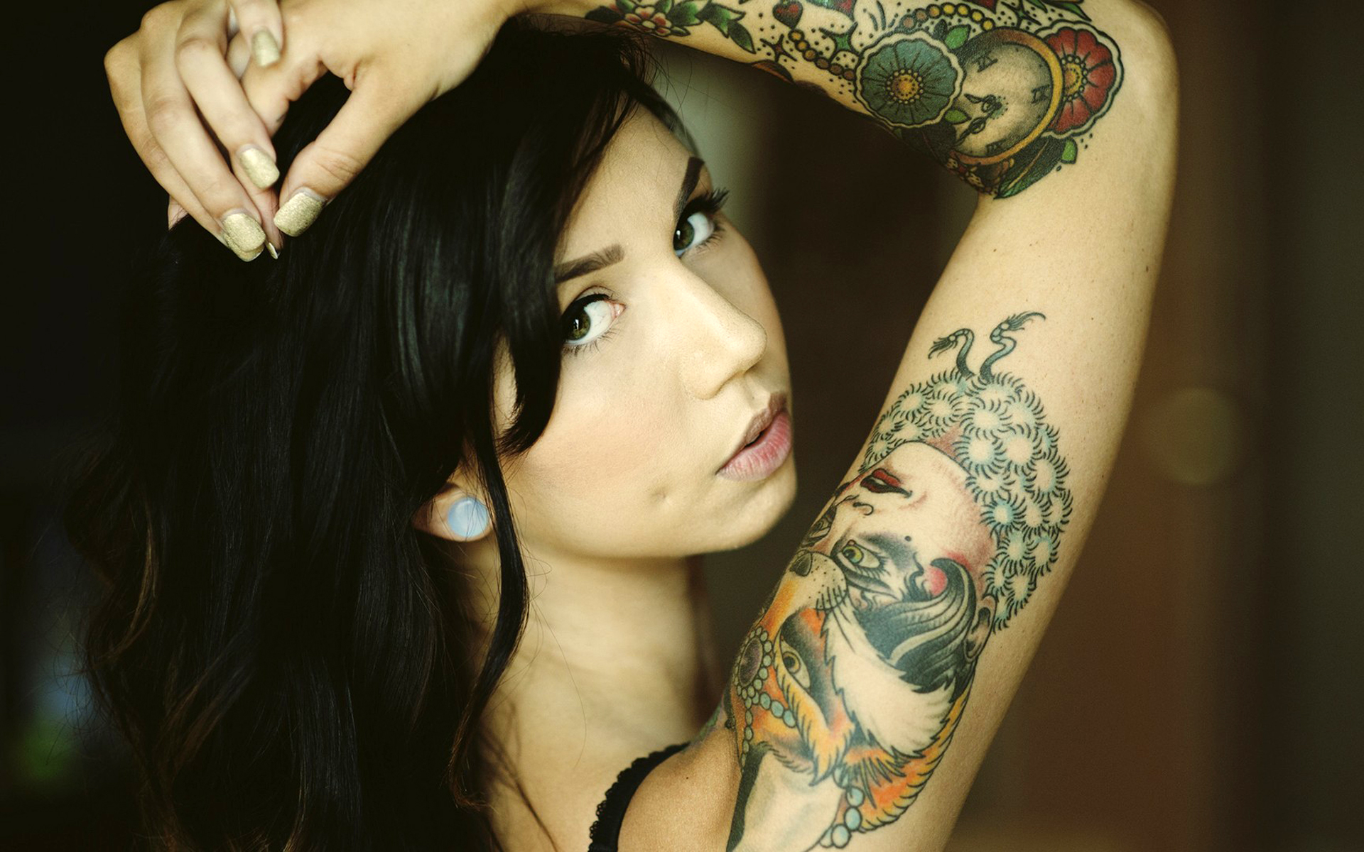 Girl Clock Tattoo HD Wallpapers 1920x1200