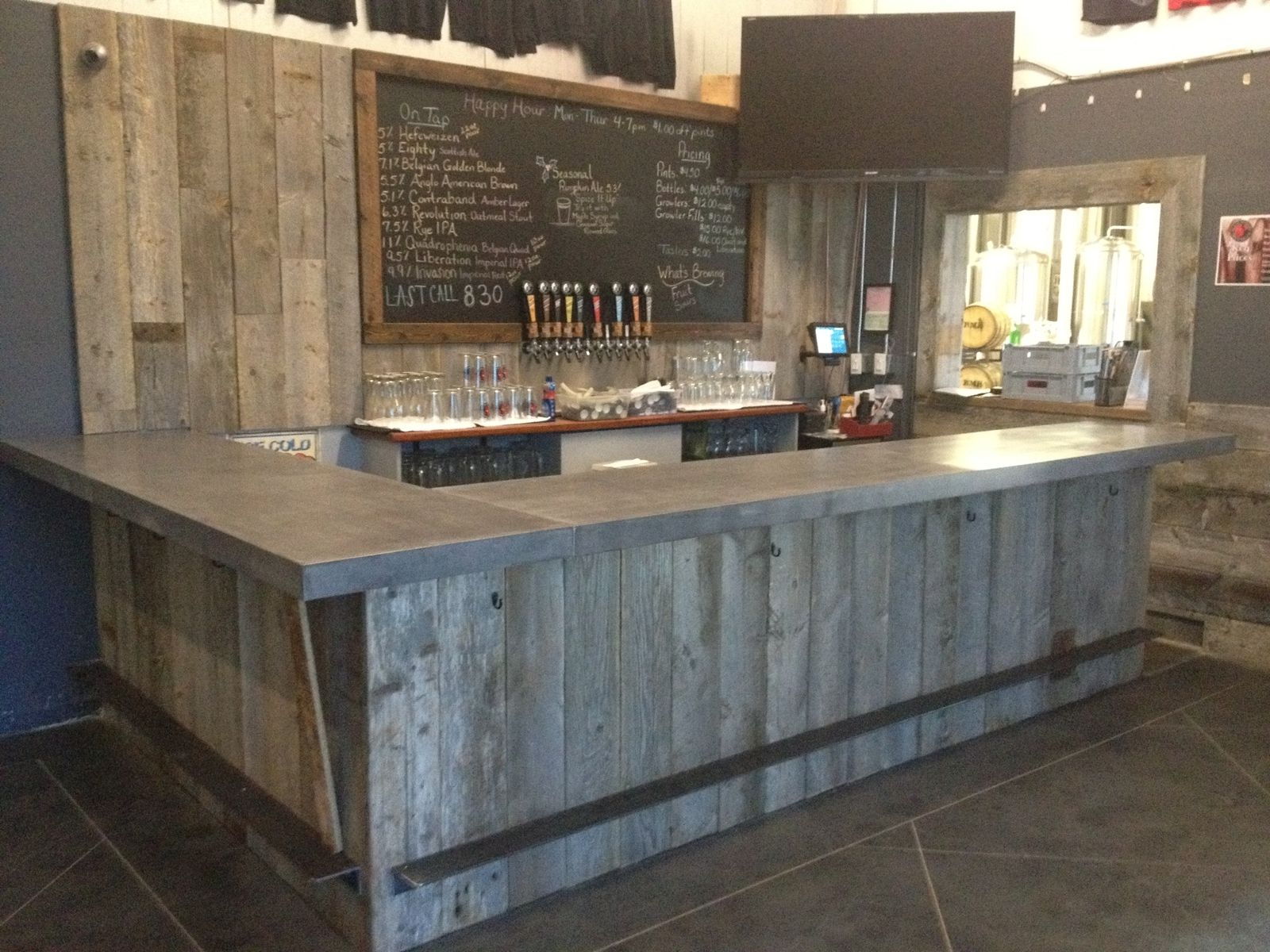 Reclaimed Wood Tasting Room Wall Cladding Caulk Boards Industrial 1600x1200