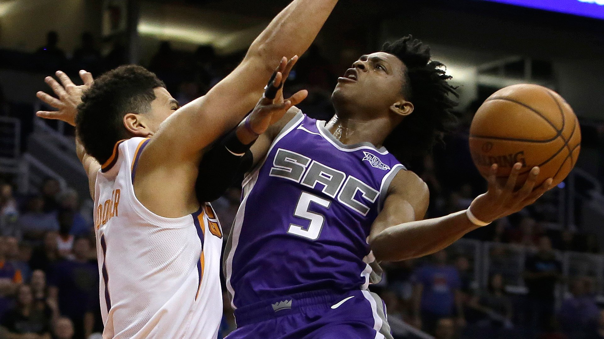 Bucket by bucket DeAaron Fox with a smooth 19 in loss to Suns 1920x1080