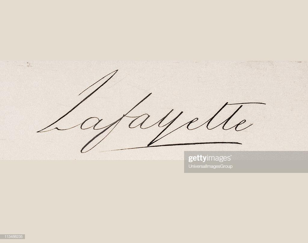 Signature of Marie Joseph Paul Yves Roch Gilbert du Motier 1024x808