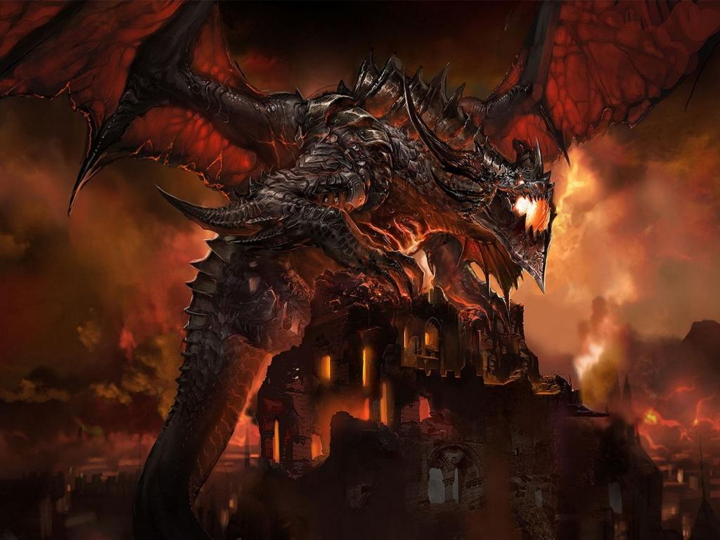 Giant Dragon   Dragons Wallpaper 25090945 1024x768