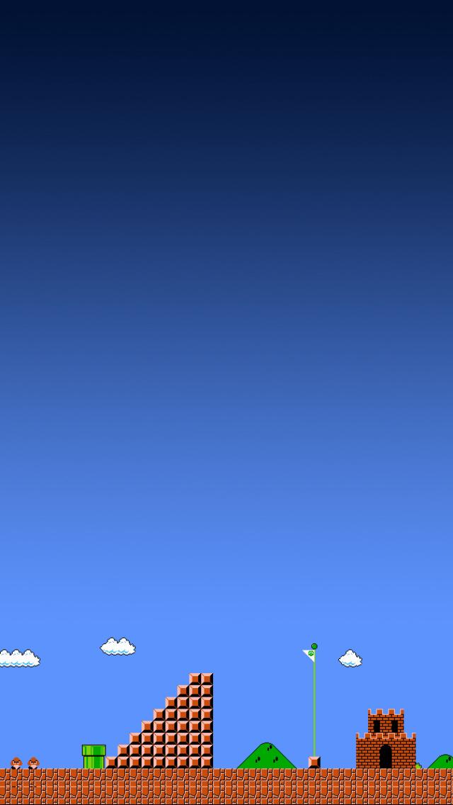 Mario Level Nintendo Landscape iPhone 5 Wallpaper 640x1136 640x1136