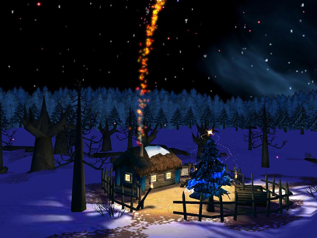 Christmas Night 3D screensaver screenshot screensaverscreensavers 1024x768