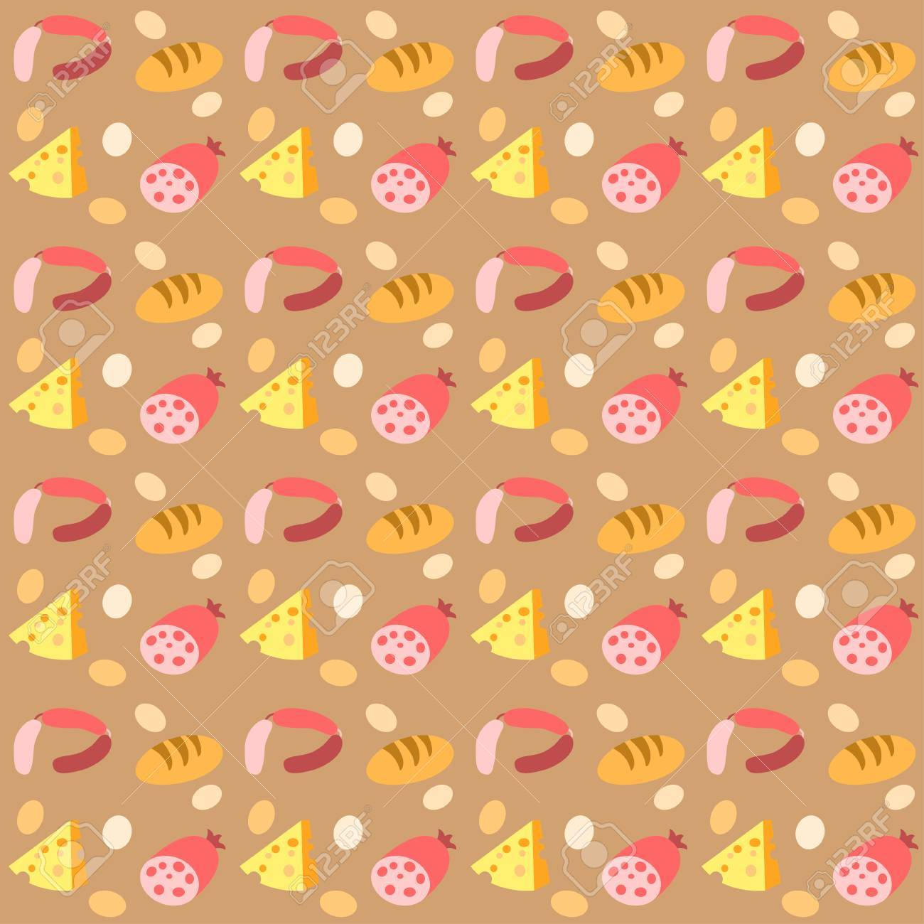 Vector Morning Breakfast Seamless Pattern With Scrambled Eggs 1300x1300