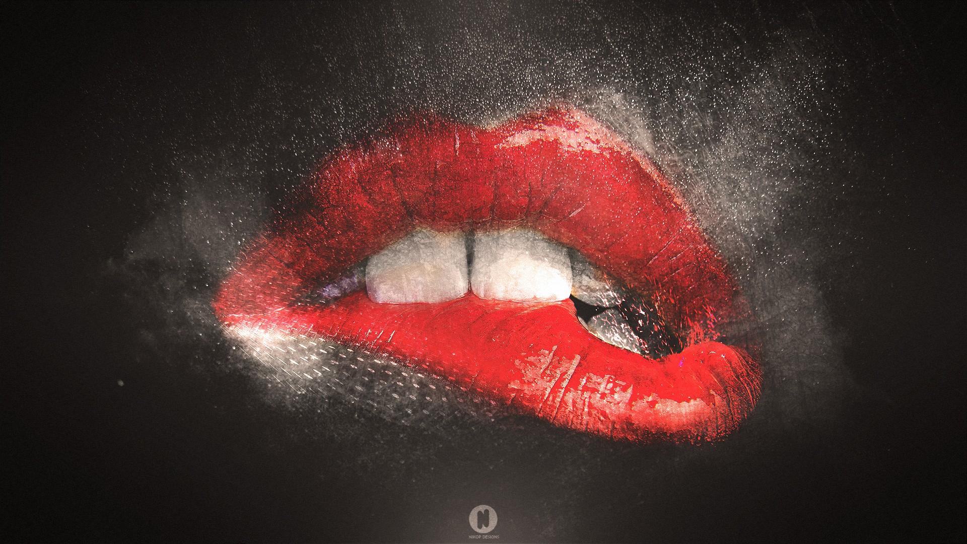 High resolution sexy lips wallpaper