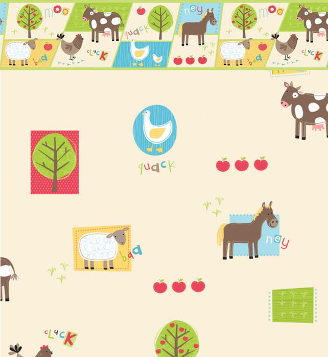 Childrens Rooms Farm Farm Animals Bedroom Wallpaper 642x700